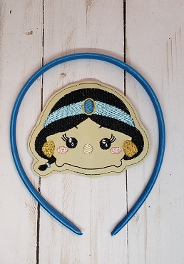 Jasmine Tsum Tsum Headband Embroidery Design